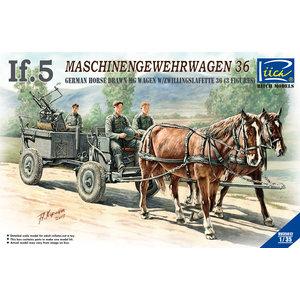 1/35 German IG-5 Horse Drawn MG Wagon