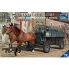 Riich Models . RII 1/35 German Hf.7 Horse Drawn Steel Field Wagon