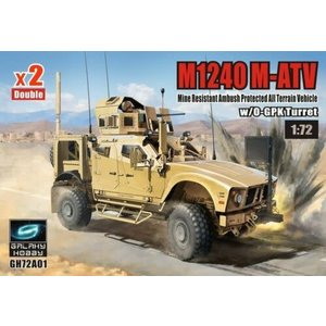 Galaxy Hobby . GLH 1/72M1240 M-ATV MRAP All Terrain Vehicle w/ O-GPK Turret