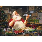 Cobble Hill . CBH Santa Painting Cars 1000 pc Puzzle
