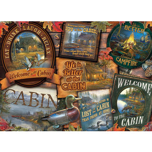Cobble Hill . CBH Cabin Signs 1000 pc Puzzle