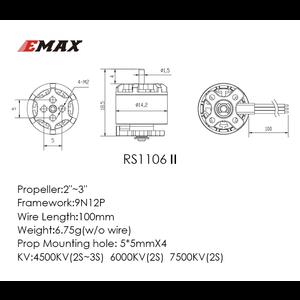EMAX . EMX Emax Rs1106 4500Kv Micro Brushless MotoR