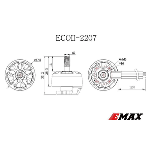 EMAX . EMX EMAX ECO Series 2207 3-6S 1700Kv 1900Kv 2400Kv Brushless Motor for Drone Racer