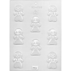 "CK Products . CKP 2"" Gingerbread People Chocolate Mold"