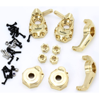 Power Hobby . PHB Powerhobby Traxxas TRX-4 Brass UPGRADE PARTS Steering / Portal / C Hubs / Hexes