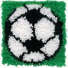 Caron . CAR Soccer Ball Latch Hook Art Rug Cartoon Calgary