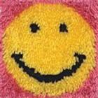 Caron . CAR Smile Face Latch Hook Rug Art Emoji Calgary