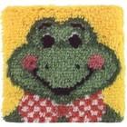 Caron . CAR Froggy Latch Hook Cartoon Animals Rug Art Calgary