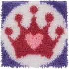 Princess Crown Latch Hook Rug Art Calgary