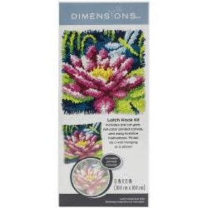 Dimensions . DMS Dragonfly And Water Lilly Latch Hook