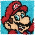 Dimensions . DMS Super Mario Bros. Latch Hook 12 x 12 Cartoon Video Game Rug Art Calgary