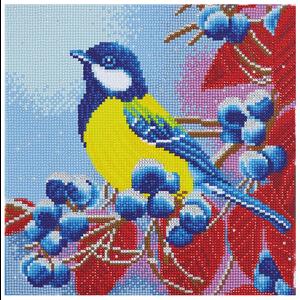 Crystal Art Kit . CAK Winter Bird - Crystal Art Kit (Medium)