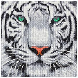 Crystal Art Kit . CAK White Tiger - Crystal Art Kit (Medium)