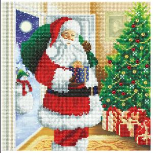 Crystal Art Kit . CAK Santa's Here - Crystal Art Kit (Medium)