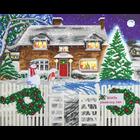 Craft Buddy . CBD Christmas Cottage - Crystal Art Kit (Large LED)