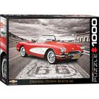 Eurographics Puzzles . EGP 1959 Corvette Route 66 - 1000pc Puzzle Cars Calgary