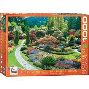 Eurographics Puzzles . EGP Butchart Sunken Gardens - 1000pc Puzzle