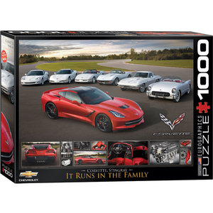 Eurographics Puzzles . EGP 2014 Corvette Stingray - 1000pc Puzzle