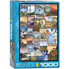 Eurographics Puzzles . EGP lighthouses Vintage Posters - 1000pc Puzzle