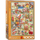 Eurographics Puzzles . EGP Flower Seed Catalog Covers - 1000pc Puzzle Nature Flowers Calgary