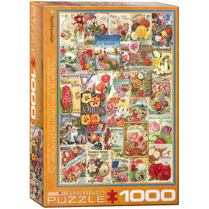 Eurographics Puzzles . EGP Flower Seed Catalog Covers - 1000pc Puzzle