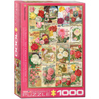 Eurographics Puzzles . EGP Rose Seed Catalog Covers - 1000pc Puzzle Nature Calgary