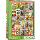 Eurographics Puzzles . EGP Vegetable Seed Catalog Covers - 1000pc Puzzle