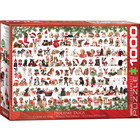 Eurographics Puzzles . EGP Holiday Dogs - 1000pc Puzzle Christmas Calgary
