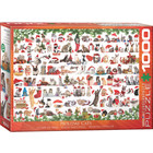 Eurographics Puzzles . EGP Holiday Cats - 1000pc Puzzle Christmas Calgary