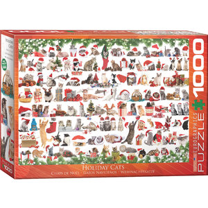 Eurographics Puzzles . EGP Holiday Cats - 1000pc Puzzle
