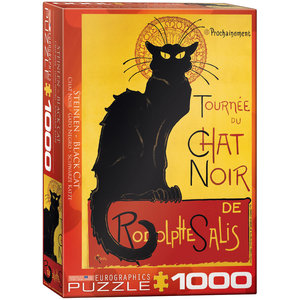 Eurographics Puzzles . EGP Black Cat by T.A Steinlen - 1000pc Puzzle