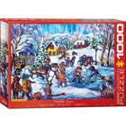 Eurographics Puzzles . EGP Mertikas - Snow Day - 1000pc Puzzle Winter Calgary