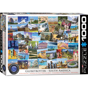 Eurographics Puzzles . EGP Globetrotter South America - 1000pc Puzzle