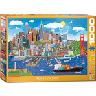 Eurographics Puzzles . EGP San Francisco - 1000pc Puzzle Skyline Travel Calgary