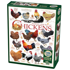 Cobble Hill . CBH Chicken Quotes 1000 pc Puzzles