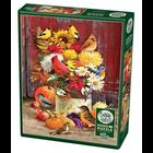 Cobble Hill . CBH Autumn Bouquet 1000pc Puzzle Birds Flowers Nature Calgary