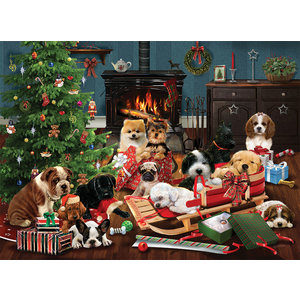 Cobble Hill . CBH Christmas Puppies - 1000pc Puzzle