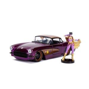 """Jada Toys . JAD Jada 1/24 """"DC Comics Bombshells"""" 1957 Chevy Corvette w/ Batgirl"""