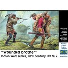 Masterbox Models . MTB Wounded Brother Indian Wars Series 18th century Kit 2