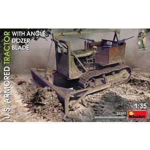 Miniart . MNA 1/35 U.S. Armoured Tractor w/ Angle dozer Blade