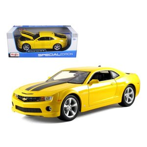 Maisto . MAI 1/18 2016 Camaro SS Yellow/Black Stripes