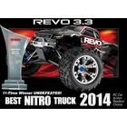 Traxxas Corp . TRA Traxxas Revo 3.3 4WD RTR Nitro Monster Truck - Blue