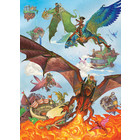 Cobble Hill . CBH Dragon Flight Puzzle 350pc (Family Pieces)