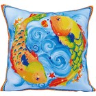Diamond Dot . DDT Dancing Fish - Diamond Art Pillow Embroidery Nature Calgary