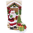 "Bucilla . BUC Santa At The Door Stocking 18"" - Diamond Art Calgary"
