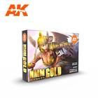AK INTERACTIVE . AKI AK Interactive Non Metallic Metal Gold Set