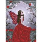 Diamond Dot . DDT Winter Rose Fairy - Diamond Art Woman Red Fantasy Calgary