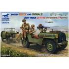 Bronco Models . BRC 1/35 British Recce & Signals Light Truck ( 2kits ) w/ 5 Crew Figures