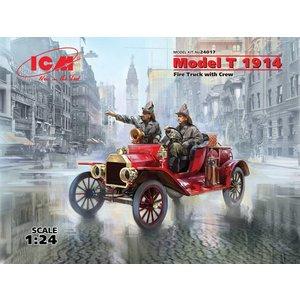 Icm . ICM 1/24 Model T 1914 Fire Truck with Crew
