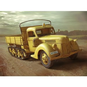 Icm . ICM 1/35 V3000S/SS M (Sd.Kfz.3b) Maultier, WWII German Semi-Tracked Truck